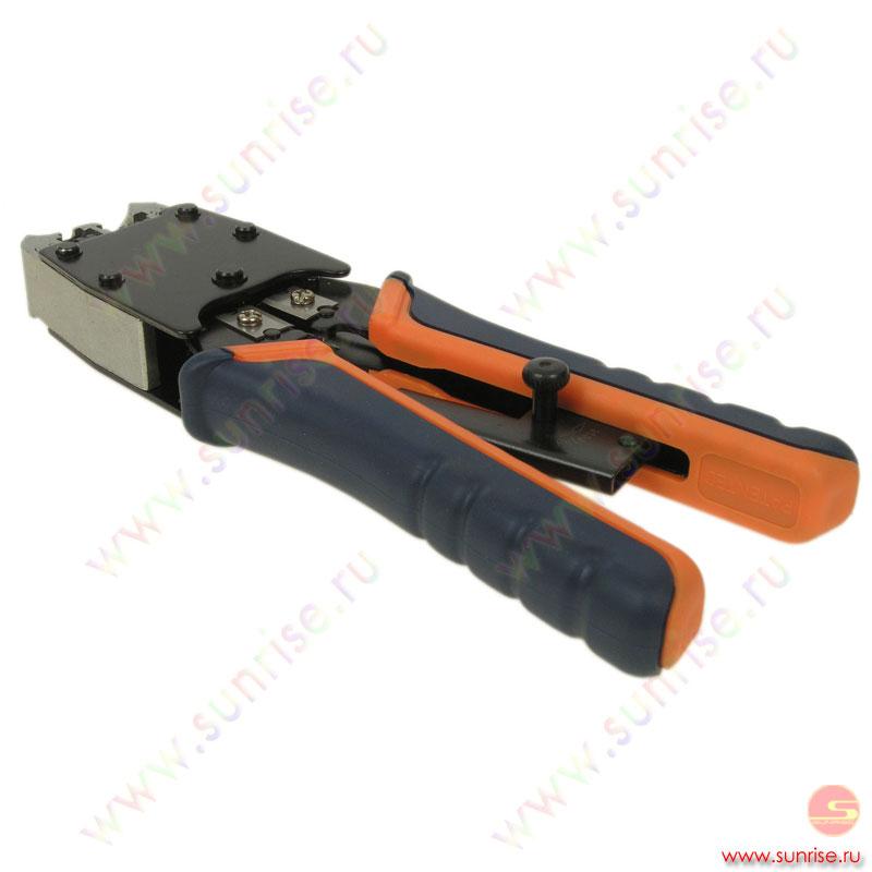 Клещи обжимные для кабеля RG-11+ RG-45, с фиксатором (НТ 500R) .