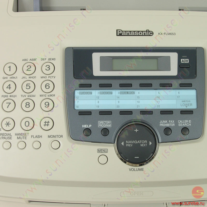Факс panasonic kx-flm 653ru