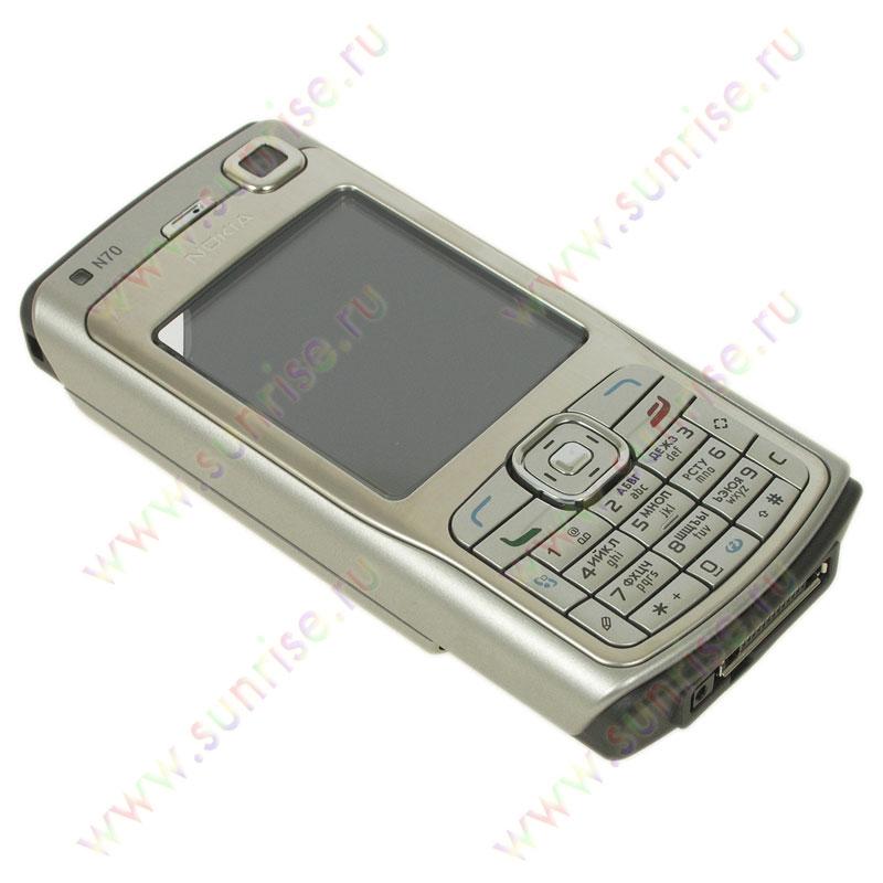 Телефон Nokia N70 silver black.