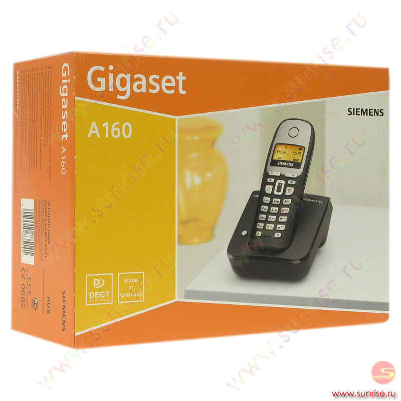Телефон Gigaset DA610  Black (проводной)