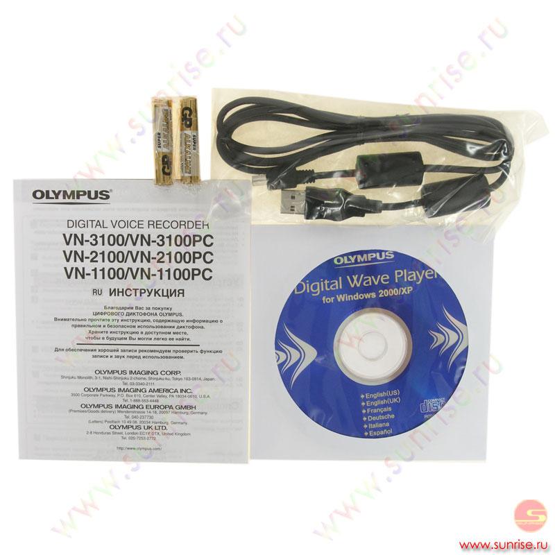 Инструкция для диктофона olympus vn 4100pc