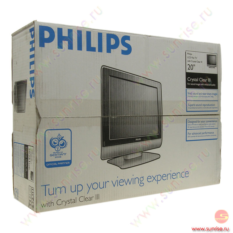 "LCD телевизор 20 "" Philips 20PF5121 Crystal Clear III."
