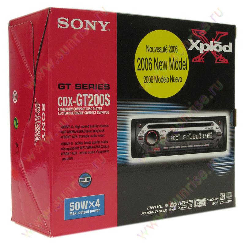 sony cdx-gt200s инструкция
