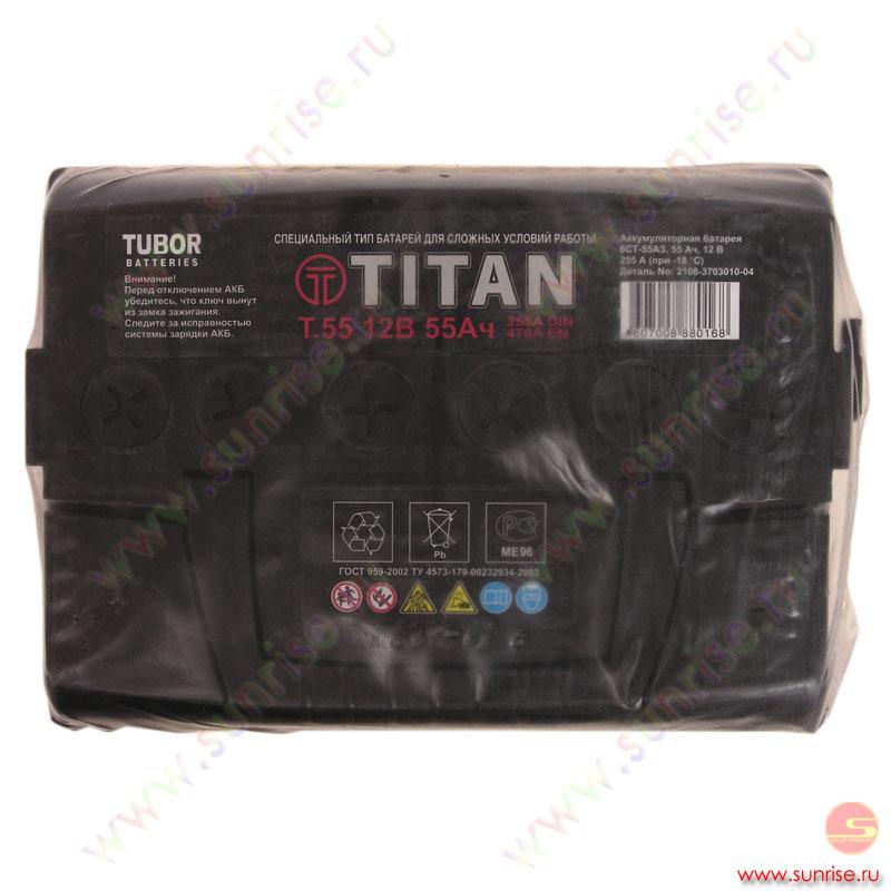 Аккумуляторная батарея ТIТАN arctic 55 R / 6СТ- 55 .0.