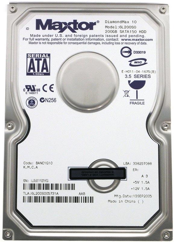 Ремонт жесткого maxtor диска
