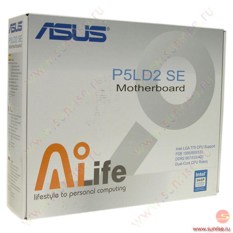 Б/у матплата lga775 asus p5ld2-vm dh, lga775, 945g/ich7, 4xddr2, fsb 1066 mhz