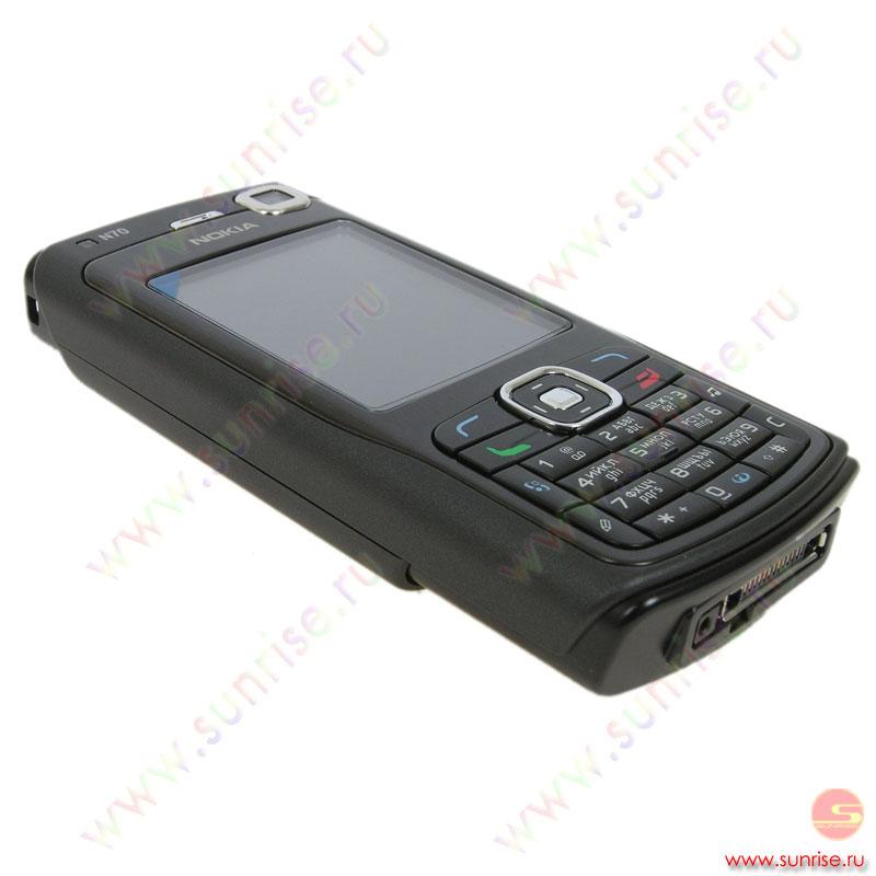 Телефон Nokia N70-1 music black.