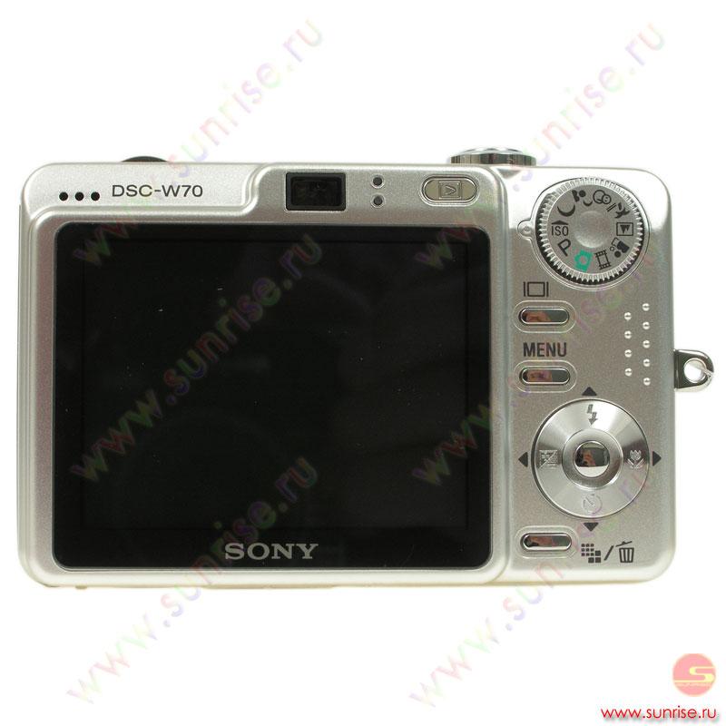 Фотоаппарат Sony DSC-W70/S - Санрайз Липецк Интернет магазин - компьютеры, ноутбуки, бытовая техника, спутниковый интернет