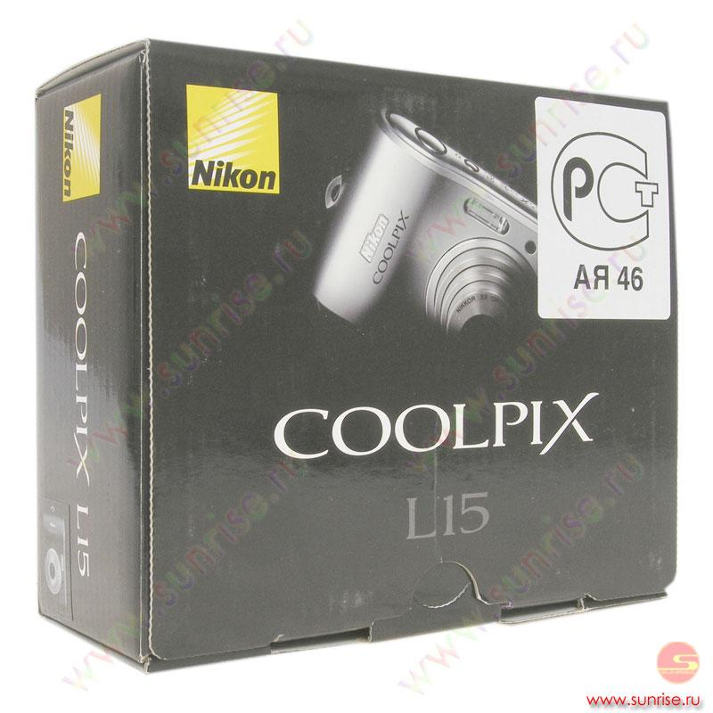Фотоаппарат Nikon Coolpix L15, black - Санрайз Липецк Интернет магазин - компьютеры, ноутбуки, бытовая техника, спутниковый инте