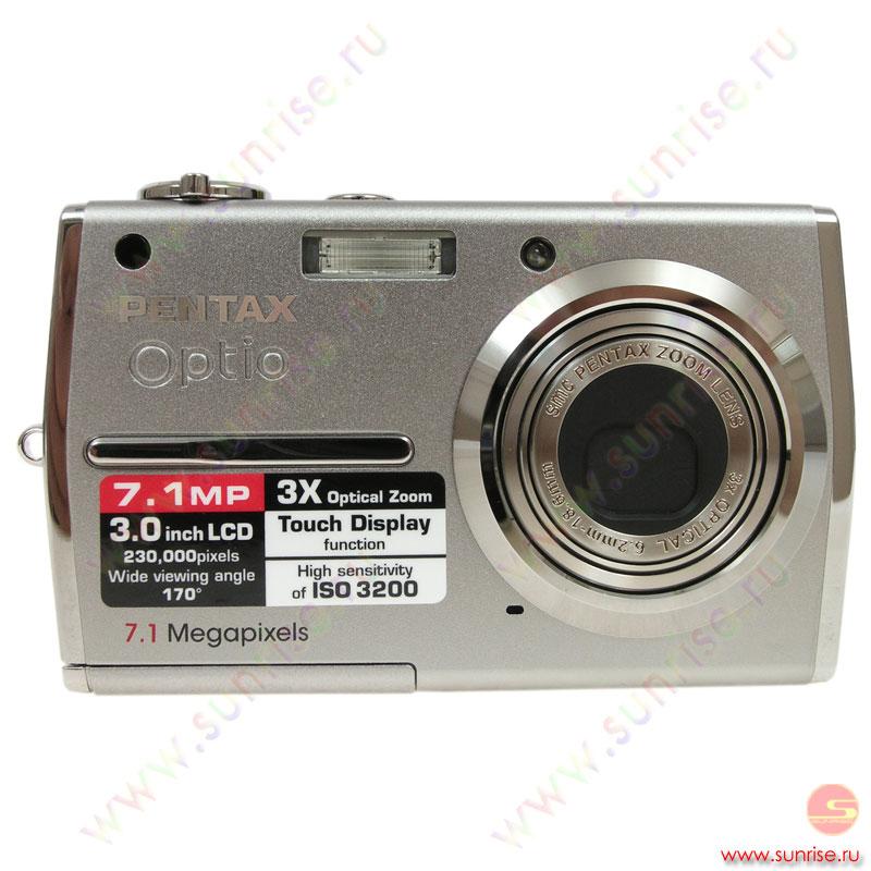 Цифровой фотоаппарат pentax optio t30 7,1mpix/3x/4x/sd,sdhc/int 19,9mb/3