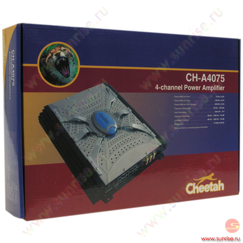 Усилитель 4х-канальный Cheetah CH-A4075.